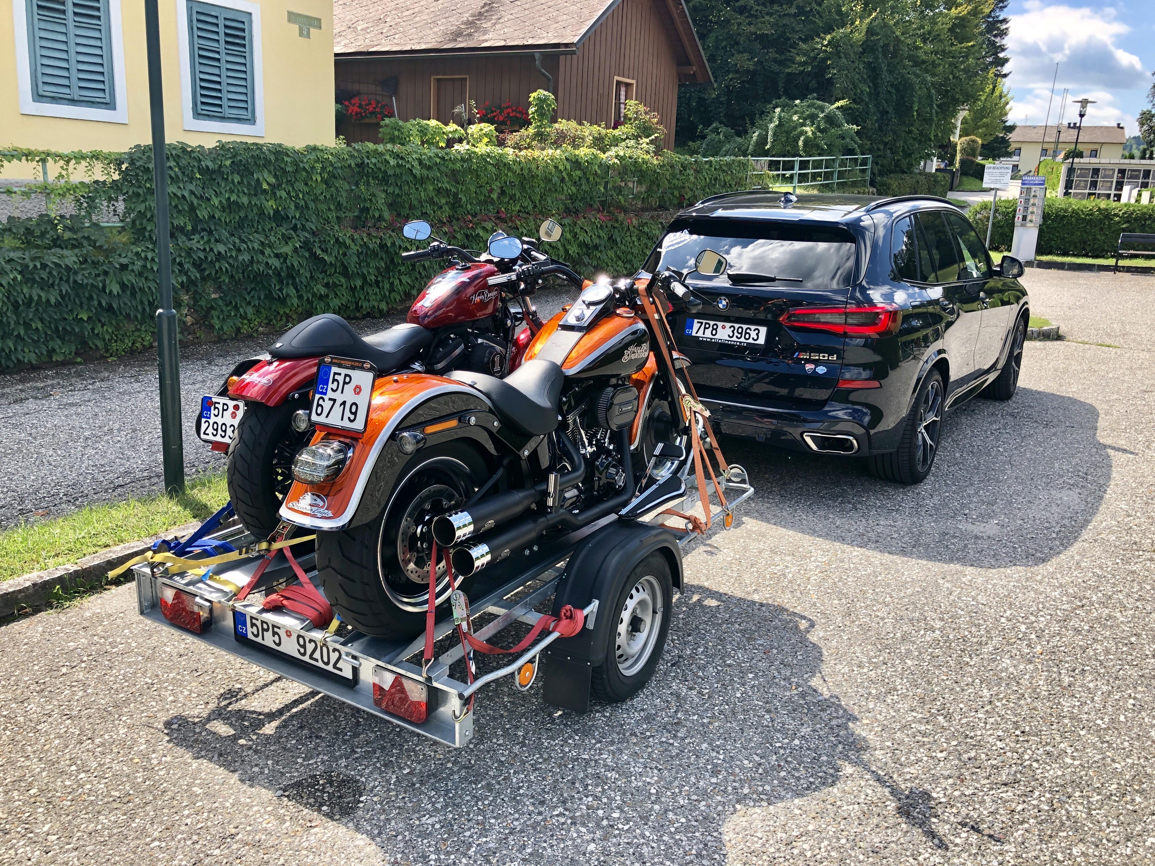 Vlek na motorky
